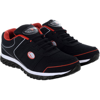 f1ecef38c Buy Lancer Lace-up Black Mesh Phylon Running Shoes For Men Online   ₹499  from ShopClues