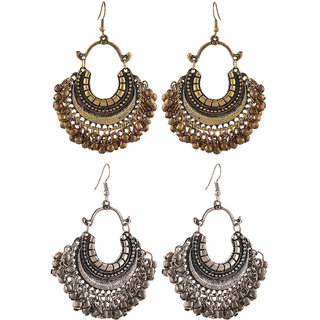 Aabhu Fashionable Fashionable Fancy Party Wear Regular Combo of 2 Pair Earrings