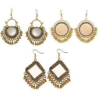 Aabhu Fashionable Stylish Fancy Party Wear Traditional Combo of 3 Pair Earrings
