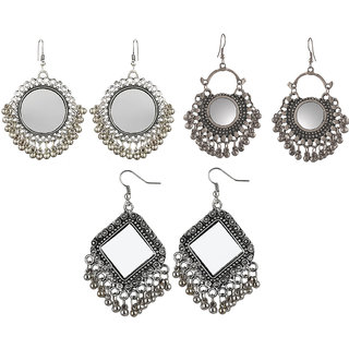 Aabhu Fashionable Fashionable Fancy Party Wear Conventional Combo of 3 Pair Earrings