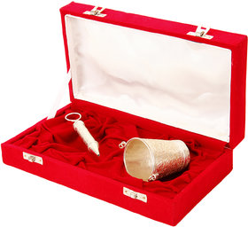 Holi Special Silver Pichkari (13Cm)With Bucket And Gulal Gift Hamper