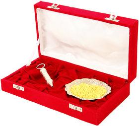 Holi Special Silver Pichkari (13Cm) And Bowl Gift Hamper