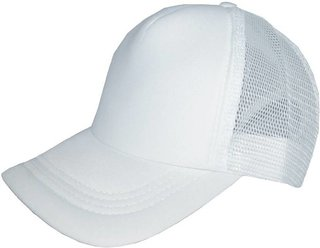 XTR  Solid Polo Netted Baseball Hat Cap (WHITE)