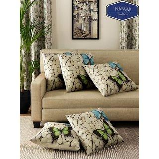 Nayaab 16 x 16 Designer Jute Cushion Covers. set of 5.