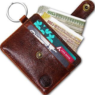 POLLSTAR Mens Wallet Leather Money Clip Thin Slim Front Pocket Wallet (CH2000BN)