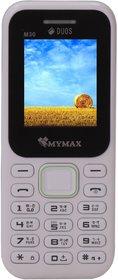 Mymax M30 (Dual Sim, 1.8 Inch Display, 1000 Mah Battery, White)