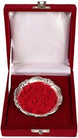 HOLI Special Silver Bowl With Velvet Box Gift Hamper