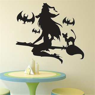 Halloween Witch Wall Sticker Art Vinyl Home Room Decal Decor Removable Sticker OS 12