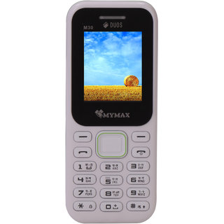 Mymax M30 Dual sim Feature phone with Open FM Black White Colour