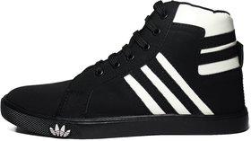 BlueFox Black And White Stripes Lifestyle Black Casual