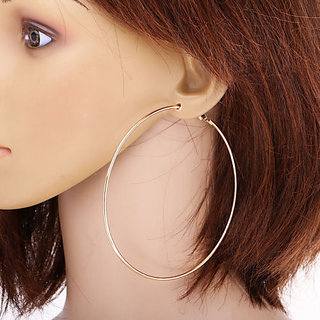 4dcdd725c821a8 Buy 75mm Golden Color Smooth Big Large Round Hoop Earrings Celebrity  Inspired Online - Get 50% Off