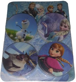 mithriya Frozen Non-Toxic Round Shaped 4.4cm Erasers  (Set of 4, Multicolor)