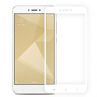 2.5D Full Cover Colour Tempered Glass Screen Protector For Redmi 4 White Indian Version