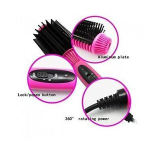 Hair Auto Straightener Salon Designer comb hair straightener curler brush