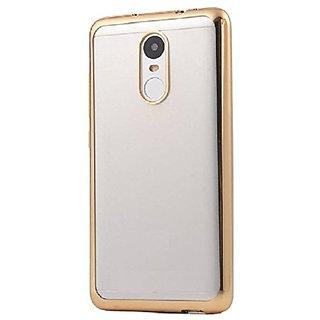 Soft Golden Border Transparent Back Cover(soft) For Redmi Note 4 mobile Indian Version
