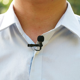 Tie Clip #Collar Lapel Mic Collar #Microphone 3.5 mm JACK Mic Hands Free Shirt Collar Clip-on Microphone for PC Computer, Laptop, YouTube, Skype Recording, Live Broadcasting portable mic cable black