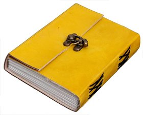 Satya Handmade Diary Notebook for Office / Home / Craft / Art Use With C lock Yellow( 6X5) inches