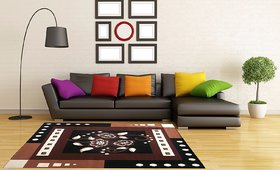 AS handloom dark brown 57 carpet for living room