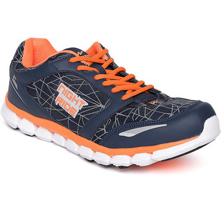 Campus Dazzle Navy/Sil/Org Men Running Shoes