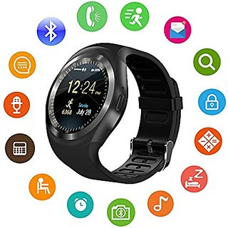 HBNS Y1 Bluetooth Smartwatch With Sim SD Card Slot/Apps Like Facebook  Whatsapp Suitable For All SmartPhones(Black)