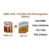 Osel Combo AAA + AA 850 MAh Rechargeable Battery ( Pack Of  5 ) Total 10 Batteries