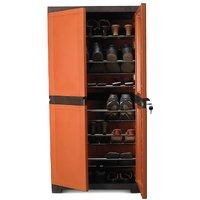 Nilkamal Freedom Mini Shoe Cabinet 18 Rust-Weather Brown