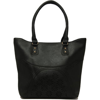 Levise London Designer Handbag For Women - Ladies Handbags Made of Quality PU Leather Bag For Girls - Black, LL-312