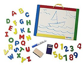 3 in 1 Magnetic Writing Board with Alphabet  Numbers