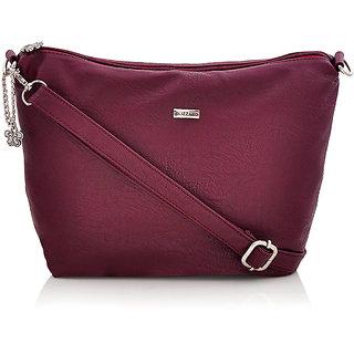 Blizzard Purple Embroidered Handbag