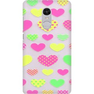 Printed Designer Back Cover For Redmi Note 5 - Beautiful cute heart design Design