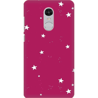 Printed Designer Back Cover For Redmi Note 5 - Stars in pink background Design