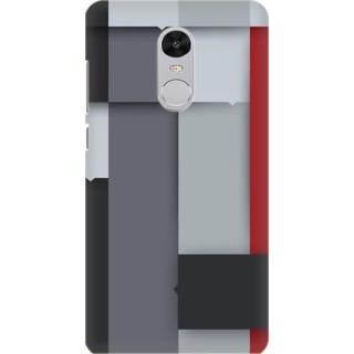 Printed Designer Back Cover For Redmi Note 5 - Multicolor Cubes Design