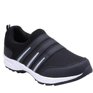Smart Jaisco Men's Black Slip On Running Shoes