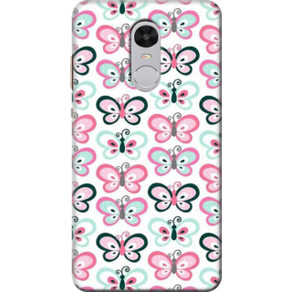 Printed Designer Back Cover For Redmi Note 4 - Butterflies Grunge Design