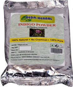 Veda Herbal - Indigo Powder 100g (offer pack of 2pcs)-Blue color