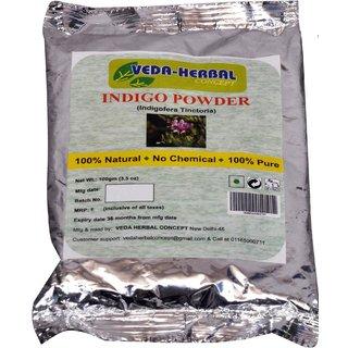 Veda Herbal - Indigo Powder 100g (offer pack of 2pcs)-Blue color