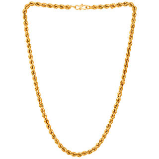 a810fac4b5a Buy Sparkling Jewellery Gold Plated Gold Alloy Chain (22 inches) for Women  Online - Get 80% Off