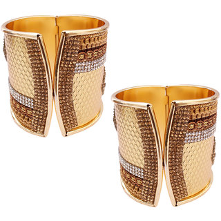 b2647c399 Buy Soni Art Jewellery Gold Plated Gold Alloy Kadas for Women s ...
