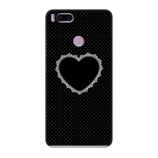 Printed Designer Back Cover For Redmi A1 - Diamond Decorated Heart Design
