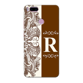 Printed Designer Back Cover For Redmi A1 - Floral Pattern Decorated Letter Alphabet R Design