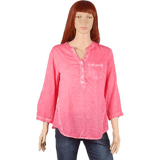 56160f54cdc43 Buy Dnmx Jeans Women s Pink Basic Top Online   ₹499 from ShopClues