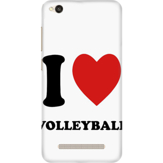 Printed Designer Back Cover For Redmi 5A - I love Volley Ball Design