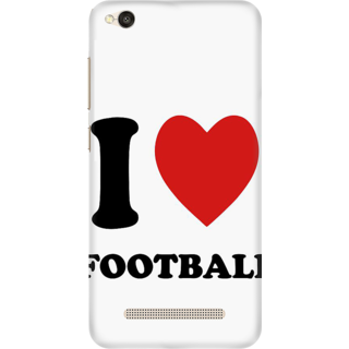 Printed Designer Back Cover For Redmi 5A - I love Football Design