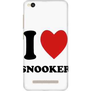 Printed Designer Back Cover For Redmi 5A - I love Snooker Design