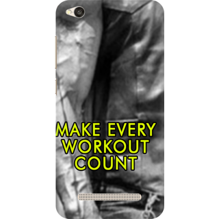 Printed Designer Back Cover For Redmi 5A - Make every work out count Design