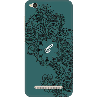Printed Designer Back Cover For Redmi 5A - Ornamental Pattern Letter Alphabet C Design