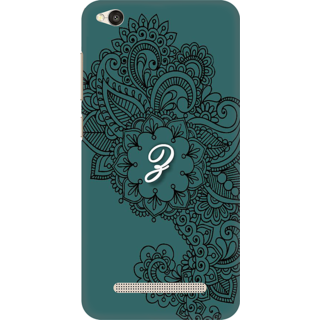 Printed Designer Back Cover For Redmi 5A - Ornamental Pattern Letter Alphabet Z Design