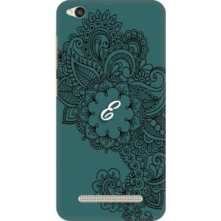 Printed Designer Back Cover For Redmi 5A - Ornamental Pattern Letter Alphabet E Design