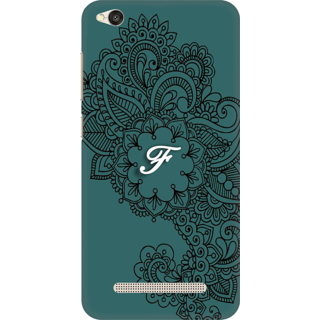 Printed Designer Back Cover For Redmi 5A - Ornamental Pattern Letter Alphabet F Design