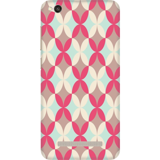 Printed Designer Back Cover For Redmi 5A - Circles Grunge Design